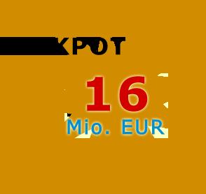 Jackpot 16 Millionen Euro
