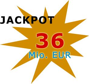 Jackpot 36 Millionen Euro