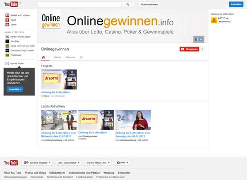 YouTube-Kanal von Onlinegewinnen.info