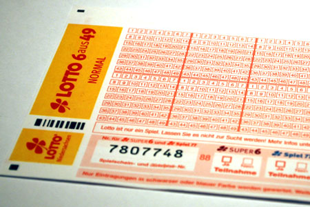 Lottoschein 6 aus 49
