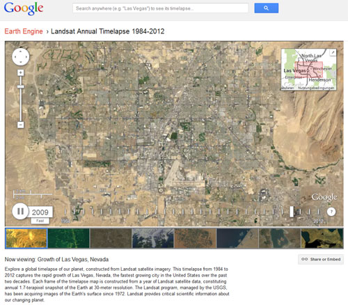 Google Earth Engine: Las Vegas 1984 - 2012