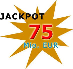 Jackpot 75 Millionen Euro