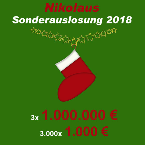 Nikolaus Sonderauslosung 2018